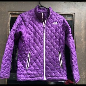The North Face Purple Quilt Full ZIP Jacket Size L